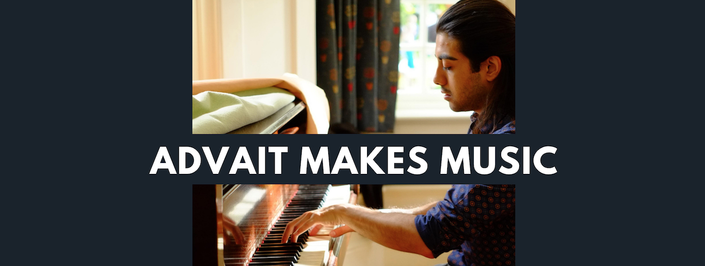 Advait makes music